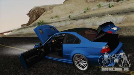 BMW M3 E46 GTR 2005 para GTA San Andreas vista inferior