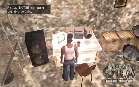O porão da casa de Carl para GTA San Andreas sexta tela