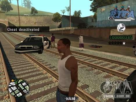 C-HUD RIfa Gang para GTA San Andreas terceira tela