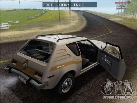 AMC Gremlin X 1973 para GTA San Andreas vista superior