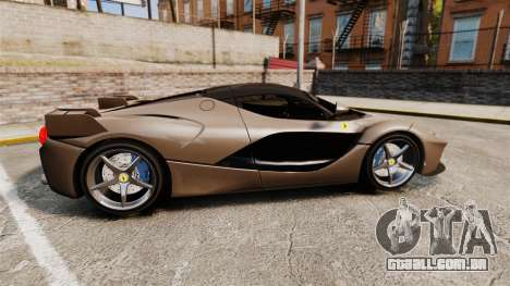 Ferrari LaFerrari v2.0 para GTA 4 esquerda vista