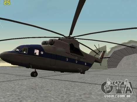 Mi 26 Civil para GTA San Andreas traseira esquerda vista
