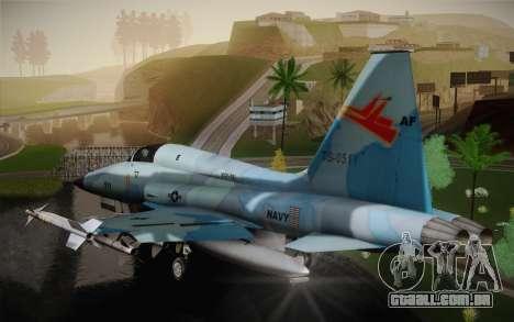 F-5E Tiger II para GTA San Andreas traseira esquerda vista