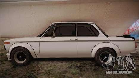 BMW 2002 1973 para GTA San Andreas esquerda vista