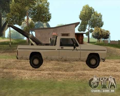 Novo Reboque (Sadler) para GTA San Andreas esquerda vista