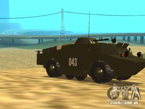 Guardas BRDM-2 para GTA San Andreas vista interior
