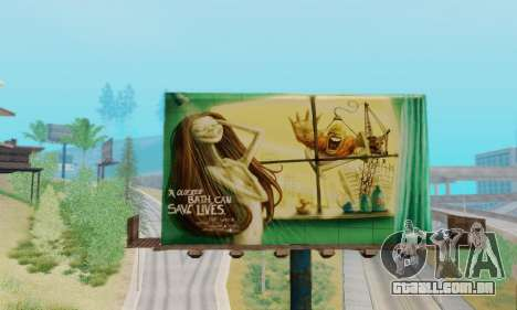 Novo de alta qualidade publicidade em cartazes para GTA San Andreas quinto tela