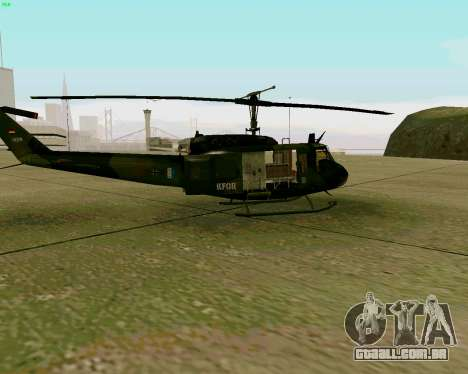 UH-1D Huey para GTA San Andreas traseira esquerda vista