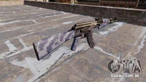 A AK-47 Camo Azul para GTA 4 segundo screenshot