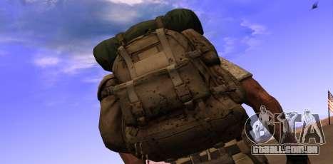 Рюкзак из MOH Warfighter para GTA San Andreas segunda tela