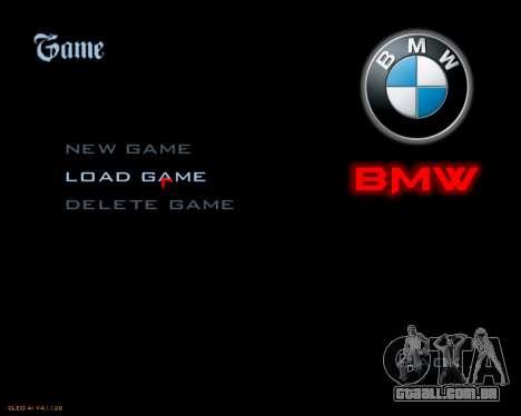 Novo menu imagem para GTA San Andreas