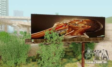Novo de alta qualidade publicidade em cartazes para GTA San Andreas sexta tela