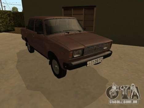 VAZ 2107 versão inicial para GTA San Andreas vista traseira