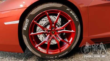 Lamborghini Aventador LP 700-4 Roadster [EPM] para GTA 4 vista de volta