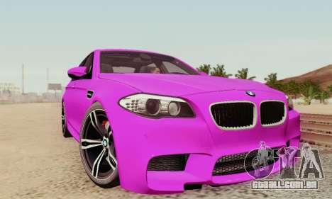 BMW F10 M5 2012 Stock para as rodas de GTA San Andreas
