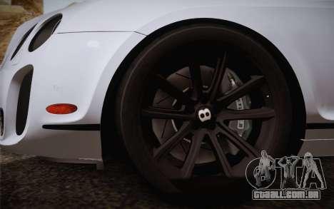 Bentley Continental SuperSports 2010 v2 Finale para GTA San Andreas traseira esquerda vista