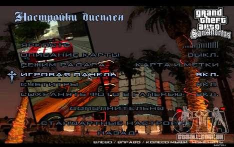 Menus HD para GTA San Andreas sexta tela
