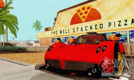 Pagani Zonda Type R Red para GTA San Andreas traseira esquerda vista