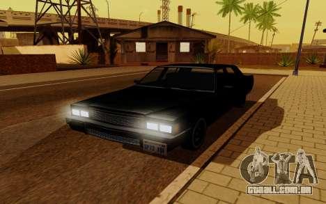 Emperor GTA 5 para GTA San Andreas traseira esquerda vista