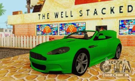 Aston Martin DBS Volante para GTA San Andreas vista interior