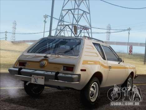 AMC Gremlin X 1973 para GTA San Andreas esquerda vista