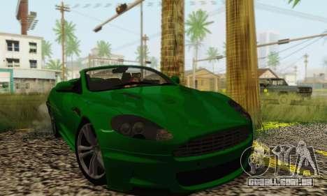 Aston Martin DBS Volante para GTA San Andreas traseira esquerda vista