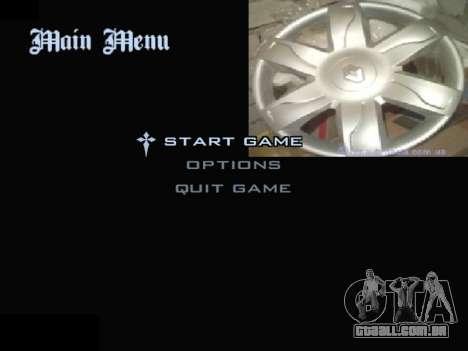 Menu De Automóveis Calotas para GTA San Andreas segunda tela