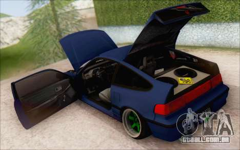 Honda cr-x, Turquia para GTA San Andreas traseira esquerda vista
