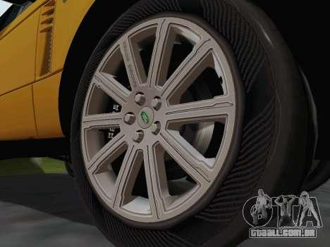 Range Rover Supercharged Series III para GTA San Andreas vista interior