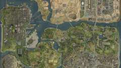 O novo mapa em HD para GTA San Andreas