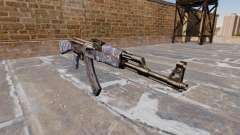 A AK-47 Camo Azul