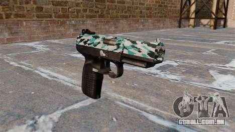 Arma FN Cinco sete Aqua Camo para GTA 4