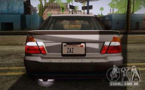 Sultan из GTA 5 para GTA San Andreas vista superior