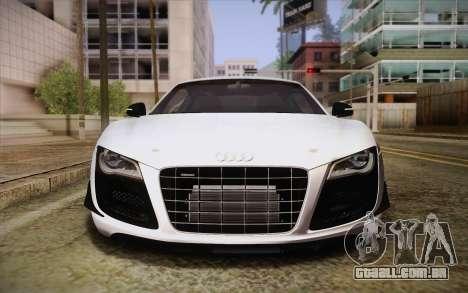 Audi R8 GT 2012 para GTA San Andreas vista interior