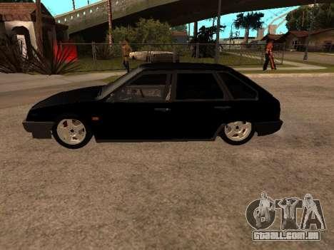 VAZ 2109 Gangster nove V 1.0 para GTA San Andreas vista direita