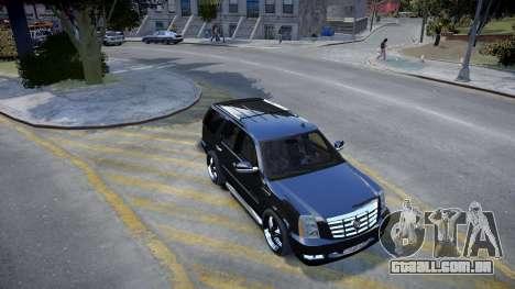 Cadillac Escalade para GTA 4 esquerda vista