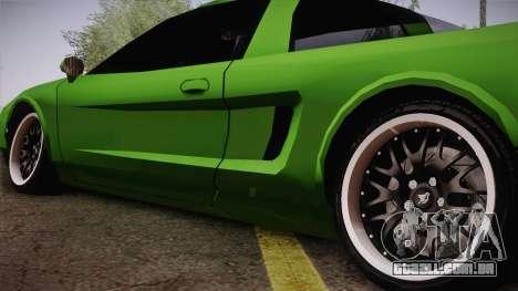 Infernus Racing Edition para GTA San Andreas traseira esquerda vista