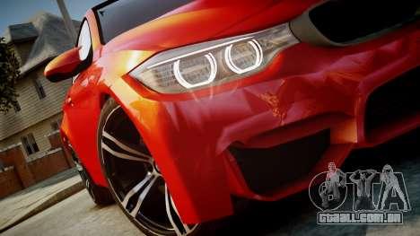 BMW M4 Coupe 2014 v1.0 para GTA 4 vista direita