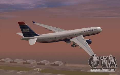 Airbus A330-300 para GTA San Andreas esquerda vista