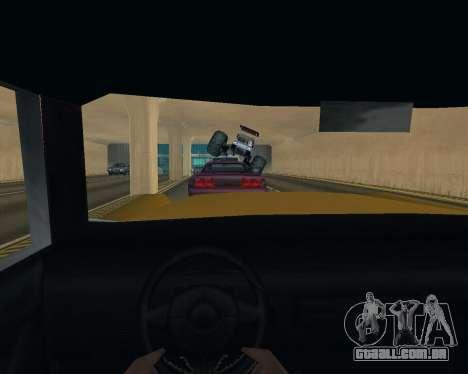 Caddy Monster Truck para GTA San Andreas vista interior