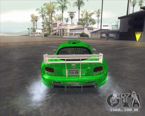 Dodge Viper SRT do NFS MW para GTA San Andreas vista direita