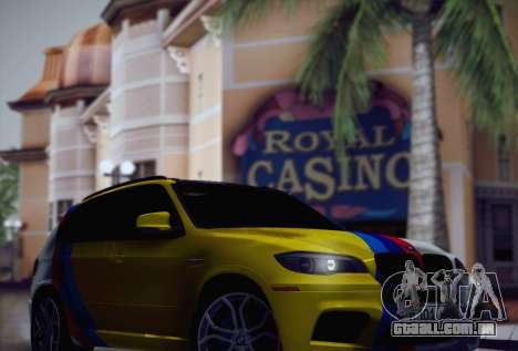 BMW X5M 2013 para GTA San Andreas vista superior