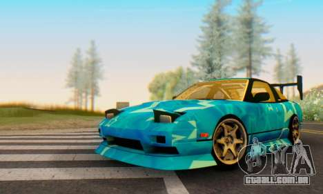 Nissan 240SX Blue Star para GTA San Andreas esquerda vista
