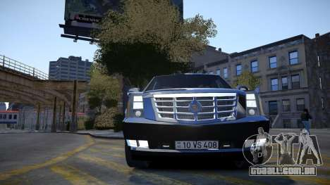 Cadillac Escalade para GTA 4 vista lateral