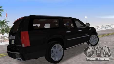 Cadillac Escalade ESV Luxury 2012 para GTA Vice City deixou vista