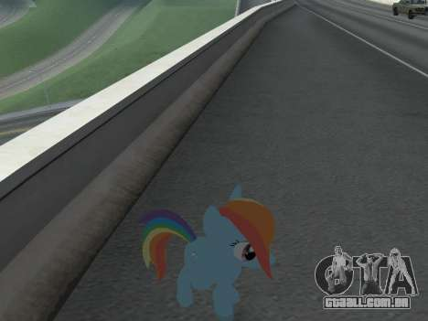 Rainbow Dash para GTA San Andreas sexta tela