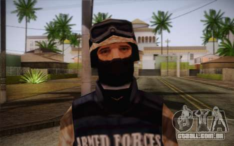 SWAT Desert Camo para GTA San Andreas terceira tela