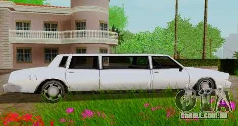 Tahoma Limousine para GTA San Andreas esquerda vista