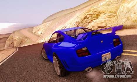 Pfister Comet V1.0 para GTA San Andreas vista interior