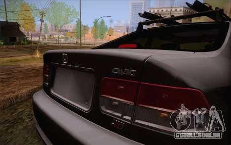 Honda Civic 1999 para GTA San Andreas vista interior